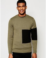Asos Jumper With Placement Blocking