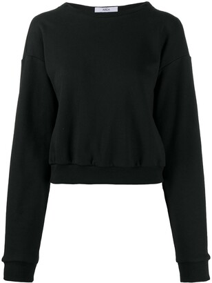Area Boat Neck Sweatshirt With Chain Link Detail