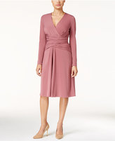 Thalia Sodi Ruched Faux-Wrap Dress, Only at Macy's