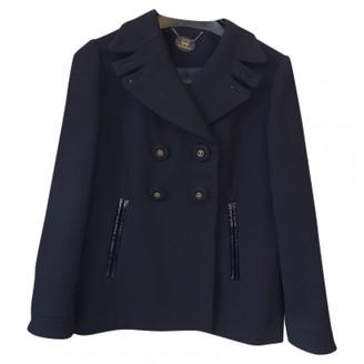Anya Hindmarch Blue Wool Coats
