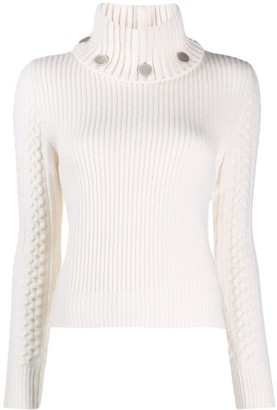 Alexander McQueen Turtle Neck Knitted Jumper