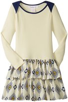 Masala Tribe Dress (Toddler/Kid) - Ivory - 4 Years