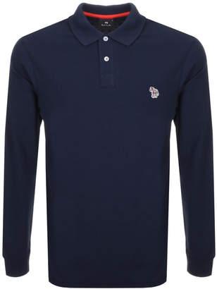 Paul Smith Long Sleeved Polo T Shirt Navy