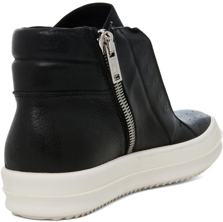 Rick Owens Island Dunk Sneaker in Black & White