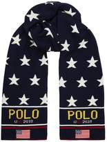 Ralph Lauren Flag Appliqué Star Scarf