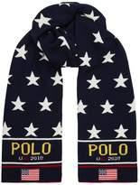 Ralph Lauren Flag Appliqué Star Scarf