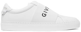 Givenchy White Elastic Urban Street Sneakers