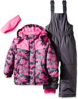 Pink Platinum Little Girls' Toddler Camo Heart Print Better Snowsuit