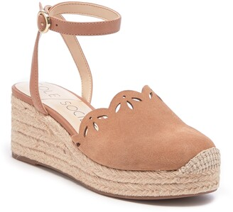 Sole Society Calysa Ankle Strap Espadrille Wedge
