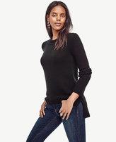 Ann Taylor Petite Cashmere Curved Hem Tunic Sweater