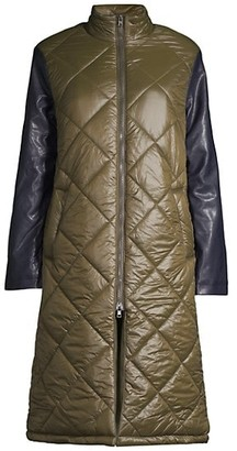 Apparis Brooklyn Quilted Longline Puffer Jacket