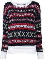 Coohem Fair Isle jumper - women - Cotton/Acrylic/Nylon/Wool - 38