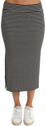 Warehouse ATM Striped Rib Skirt