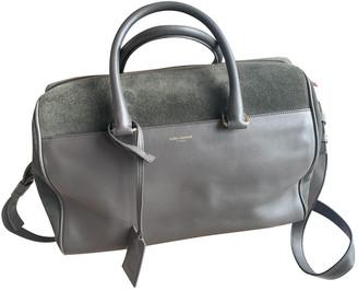 Saint Laurent Duffle Grey Suede Handbags