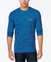 HUGO BOSS Green Men's Pixelated Camouflage Long-Sleeve T-Shirt