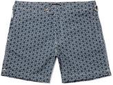 Tom Ford Slim-Fit Mid-Length Printed Swim Shorts