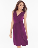 Soma Intimates Draped Short Dress Henna Plum