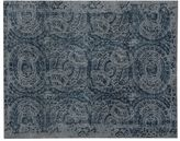 Pottery Barn Bosworth Printed Wool Rug - Blue