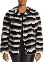 Junarose Faux-Fur Stripe Jacket