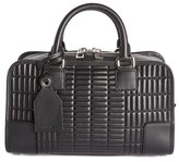 Loewe 'Amazona 23' Quilted Leather Satchel - Black