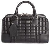 Loewe 'Mini Amazona 23' Quilted Leather Satchel - Black