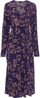Rag & Bone Odette Wrap-effect Floral-print Crepe Midi Dress