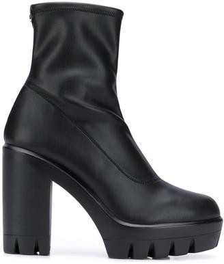 Giuseppe Zanotti Platform Heeled Leather Ankle Boots