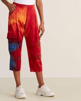 Mauna Kea Red Tie Dye Cargo Pants