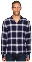 Vince Ombre Plaid Long Sleeve Shirt Men's T Shirt