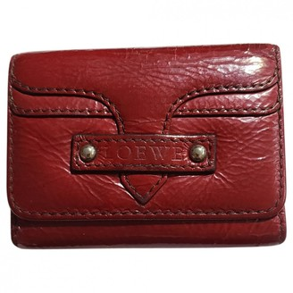 Loewe Red Patent leather Wallets
