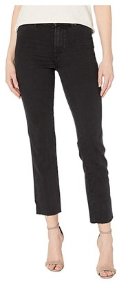Paige Cindy Straight w/ Seaming Details Jeans in Lights Out (Lights Out) Women's Jeans