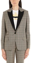 Stella McCartney Contrasting Collar Plaid Blazer