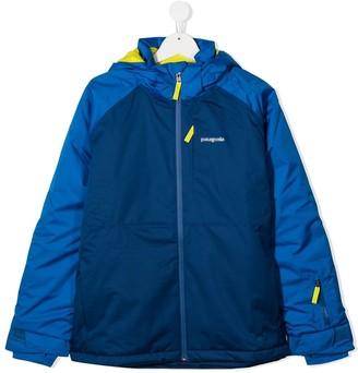 Patagonia TEEN Snowshot colour-block padded jacket