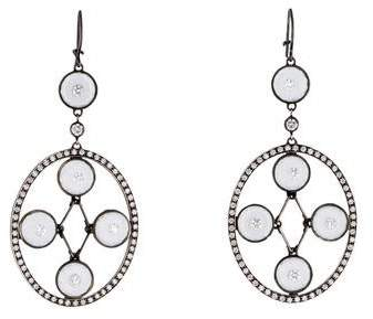 Moritz Glik Diamond and Quartz Chandelier Earrings