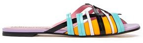 Emilio Pucci Cutout Leather Slides