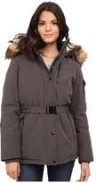 MICHAEL Michael Kors Belted Heavy Down w/ Faux Fur Hood