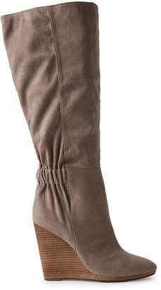 Charles by Charles David Taupe Hampton Wedge Knee-High Boots