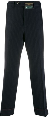 Gucci pinstripe cropped trousers