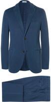 Boglioli - Blue Slim-fit Garment-dyed Stretch-cotton Twill Suit