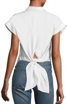 Rag & Bone Ara Tie-Back Cotton Blouse