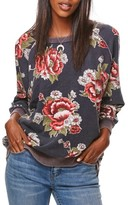 Free People Women's Go On Get Floral Sweatshirt