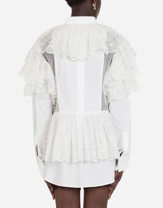 Dolce & Gabbana Cotton poplin shirt dress
