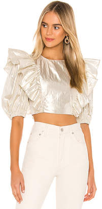 Lovers + Friends Marlisse Ruffle Cropped Top