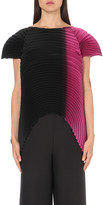 Issey Miyake Saturn ombré pleated top