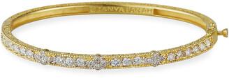 Farah Tanya 18K Modern Etruscan Diamond Cluster Bangle