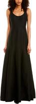Halston Silk-Blend Gown