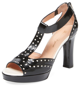 Robert Clergerie Pong Leather T-Strap Sandal
