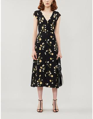 Reformation Wellfleet floral-print crepe midi dress