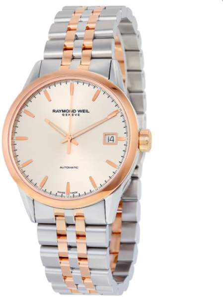 Raymond Weil Freelancer 2740-SP5-65011 Stainless Steel & Rose Gold Automatic 42mm Mens Watch