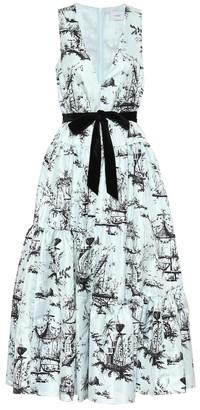 Erdem Mimosa floral jacquard midi dress